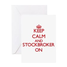 Keep Calm and Stockbroker ON Greeting Cards