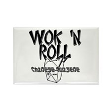 Wok 'N Roll Rectangle Magnet (10 pack)