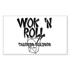 Wok 'N Roll Rectangle Decal