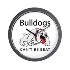 Bulldogs can't be beat Wall Clock