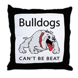 Bulldogs can't be beat Throw Pillow