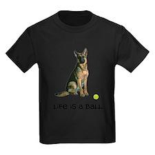 FIN-german-shepherd-llife.png Kids Dark T-Shirt