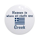 Greek Chefs Keepsake Ornament