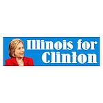 Illinois For Hillary Clinton Bumper Sticker
