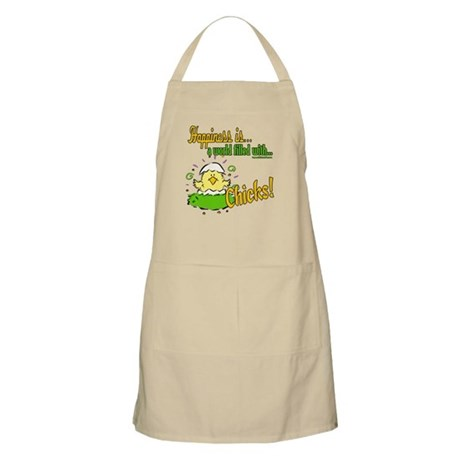 Happiness is a Chick BBQ Apron