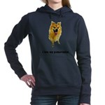 FIN-pomeranian-love.png Women's Hooded Sweatshirt