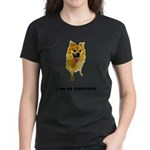 FIN-pomeranian-love.png Women's Dark T-Shirt
