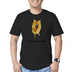 FIN-pomeranian-love.png Men's Fitted T-Shirt (dark
