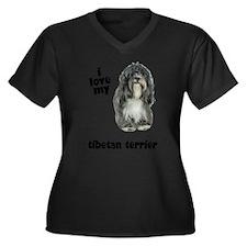 FIN-tibetan-terrier-love.png Women's Plus Size V-N