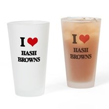 I Love Hash Browns Drinking Glass