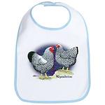 Silver Wyandotte Chickens Bib
