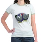 Silver Wyandotte Chickens Jr. Ringer T-Shirt