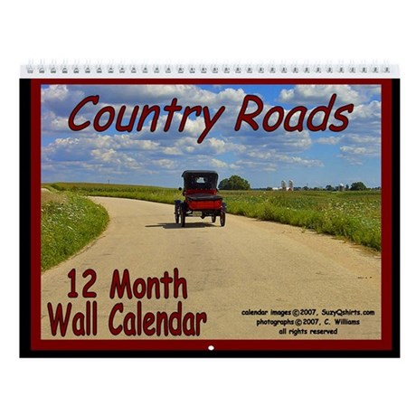 "Antique Car ""Country Roads"" 12 month Wall Calendar"
