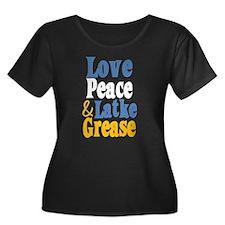 Love Peace & Latke Grease Plus Size T-Shirt