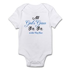 All God's Grace In This Tiny Face - Boy Body Suit