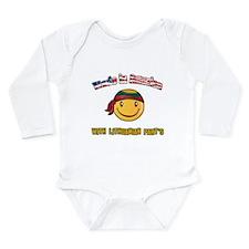 Cute Lithuanian Long Sleeve Infant Bodysuit