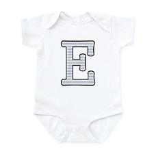 Monogram Initial E - Baby Onesie Body Suit