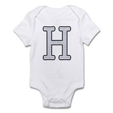 Monogram Initial H - Baby Onesie Body Suit