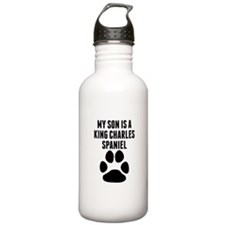 My Son Is A King Charles Spaniel Water Bottle