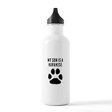 My Son Is A Havanese Water Bottle