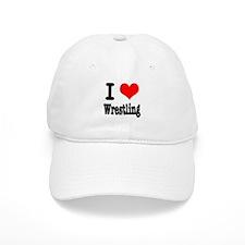 I Heart (Love) Wrestling Baseball Cap