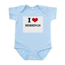 I Love Herrings Body Suit