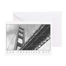 sf bay black and white photos Greeting Cards (6)