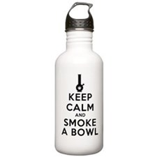 Keep Calm and Smoke a Bowl art Water Bottle