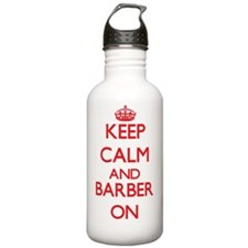 Keep Calm and Barber O Water Bottle
