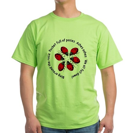 Ladybugs Playing Green T-Shirt
