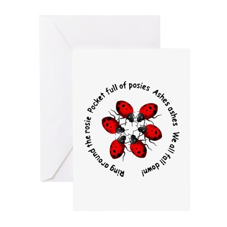 Ladybugs Playing Greeting Cards (Pk of 10)