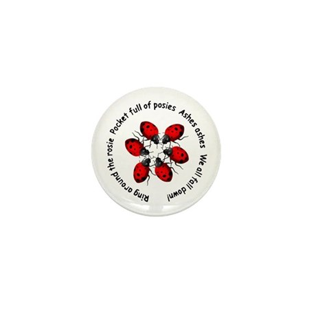 Ladybugs Playing Mini Button (100 pack)
