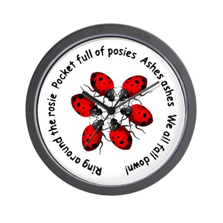 Ladybugs Playing Wall Clock
