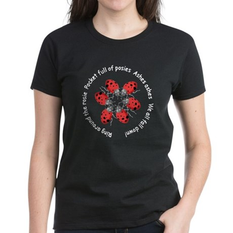 Ladybugs Playing Women's Dark T-Shirt