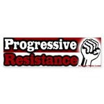 Fist Progressive Resistance Bumper Sticker