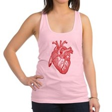 Anatomical Heart - Red Racerback Tank Top