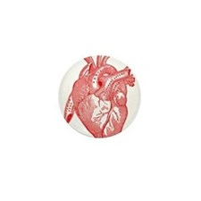 Anatomical Heart - Red Mini Button