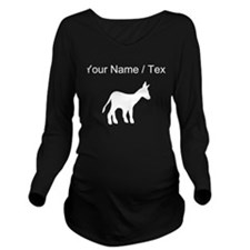 Custom Mule Silhouette Long Sleeve Maternity T-Shi