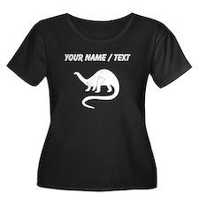 Custom Brontosaurus Silhouette Plus Size T-Shirt