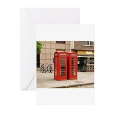 Unique Phone booth Greeting Cards (Pk of 10)