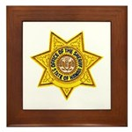 Hawaii Sheriff Framed Tile