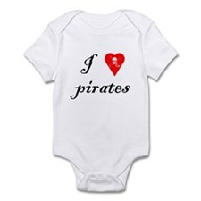 I Love Pirates Infant Bodysuit