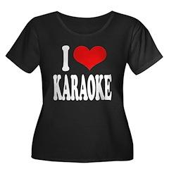 I Love Karaoke Women's Plus Size Scoop Neck Dark T