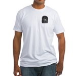 Black Poodle Fitted T-Shirt
