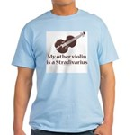 Stradivarius Violin Humor Light T-Shirt