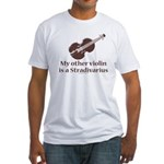 Stradivarius Violin Humor Fitted T-Shirt