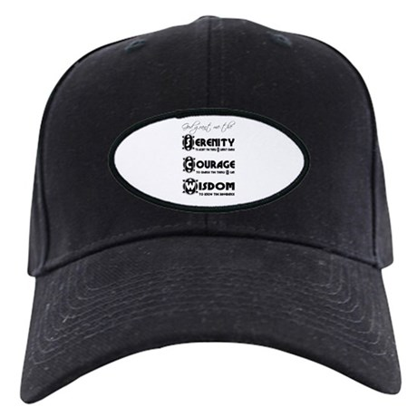 Serenity Prayer Black Cap