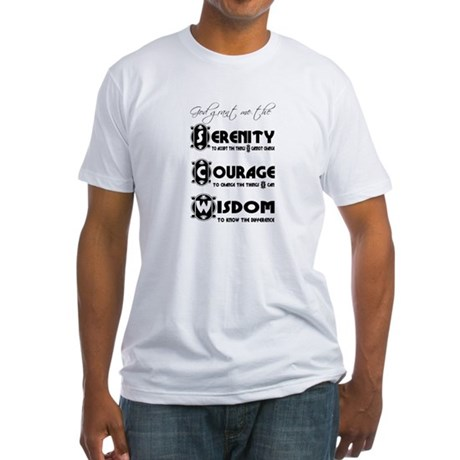 Serenity Prayer Fitted T-Shirt
