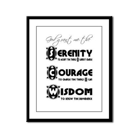 Serenity Prayer Framed Panel Print