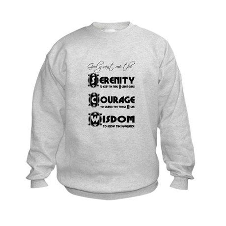 Serenity Prayer Kids Sweatshirt